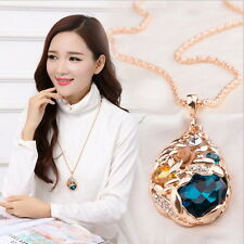 1 PC Beauty Charm Love of Wheat Crystal Sweater Chain Necklace Pendant