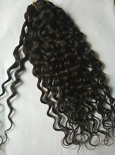 Deep Curly Clip In Remy Human Hair Extensions Full Head Dark Brown2A#
