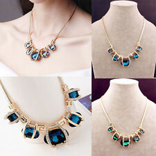 New Lady Exquisite Diamante Crystal Pendant Short Alloy Clavicular Necklace Gift
