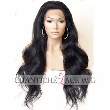 Long Wavy Lace Front Wig Heat Friendly Synthetic Hair Black Natural Looking Wigs