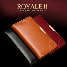 Luxury KALAIDENG Cow Leather Case Wallet Flip Cover For SONY Xperia Z5