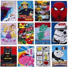 KIDS CHARACTER BATH / BEACH TOWELS - STAR WARS, NINJA TURTLES, FROZEN + MORE