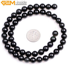 "Natural Round Gemstone Beads Jewelry Making Loose Beads 15"" Gem-inside Hot Sale"