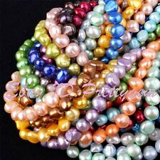 7-8MM FREEFORM CULTURED FRESHWATER PEARL SPCAER BEADS JEWELRY MAKING STRAND 15""