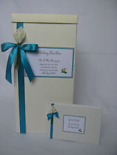 Calla Lily design Wedding post box & Guest Book & personalised label