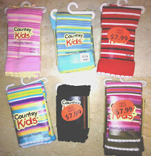 Country Kids Cotton Striped Footless Tights 12-24 SHIPS FREE after first pair!