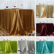 "30 pcs Wholesale Lot 90x156"" XL RECTANGLE Satin TABLECLOTHS Wedding Party Linens"