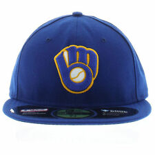 New Era 5950 59FIFTY Milwaukee Brewers Alt On-Field Fitted Cap Hat Various Sizes