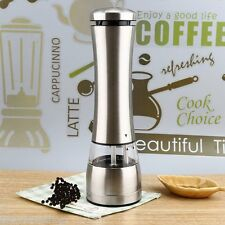 Electric Electronic Stainless Steel Pepper Salt Mill Muller Grinder Kitchen Tool