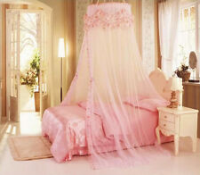 Princess Lace Flower Round Dome Bed Canopy Netting Mosquito Net Double King Size