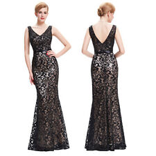 Sequined Satin Long HOMECOMING Formal Evening Gowns Party Bridesmaid Prom Dress