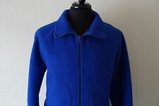 Vintage Mens Polar Fleece by Malden Medium Blue Thick Fleece Jacket Made in USA