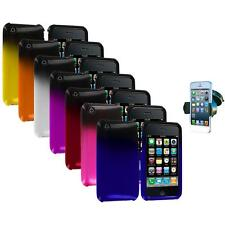 Color Two Tone Crystal Hard Case Cover+Windshield Mount for iPhone 3G S 3GS