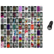 Design Color Hard Snap-On Skin Case Accessory+2.1A Charger for iPhone 4 4G 4S