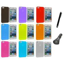 0.3mm Frost Super Ultra Thin Hard Snap-On Case Cover+Charger+Pen for iPhone 5 5S