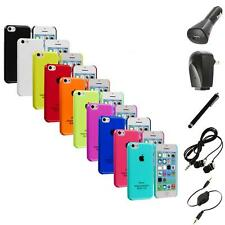 For iPhone 5C Crystal Hard Snap-On Ultra Thin Back Case Cover+Accessories