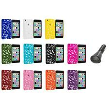 For Apple iPhone 5C Color Birds Nest Slim Hard Snap-On Case Cover+Car Charger