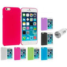 For Apple iPhone 6 (4.7) Flexible Hard Ultra Thin Back Cover Case USB Charger