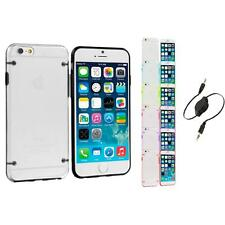For Apple iPhone 6 (4.7) Hybrid Hard TPU Shockproof Case Cover Aux Cable