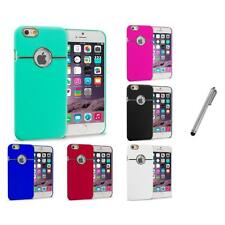 For Apple iPhone 6 (4.7) Hard Deluxe Chrome Case Cover Accessory Stylus Plug