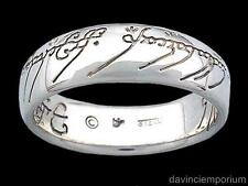 Lord of the Rings One Ring of Power Sterling Silver Plain Script