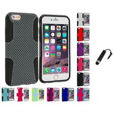 For Apple iPhone 6 Plus (5.5) Hybrid Mesh Shockproof Case Cover Stylus Plug