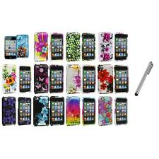 Flower Design Hard Case Cover Accessory+Metal Pen for iPod Touch 4th Gen 4G 4