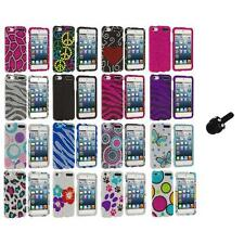 Colorful Bling Diamond Hard Case Cover+Mini Stylus for iPod Touch 5th Gen 5G