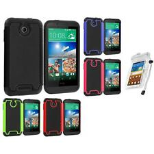 For HTC Desire 510 Hybrid Armor Rugged Hard Case Cover Accessory Waterproof Bag