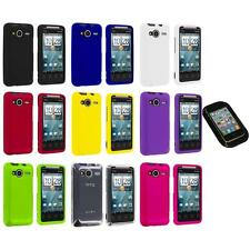Color Hard Snap-On Case Cover+Sticky Pad for HTC EVO Shift 4G Phone Accessory