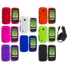 Color Hard Snap-On Rubberized Case Cover+Charger for LG Cosmos Touch VN270