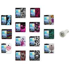 For LG Lucid 2 VS870 Color Hard Design Rubberized Case Cover+Dual Charger