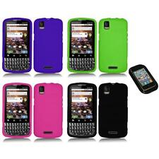 Silicone Rubber Color Gel Skin Case Cover+Sticky Pad for Motorola XPRT MB612