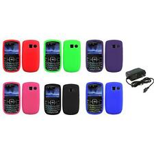 Color Silicone Rubber Gel Case Cover+Wall Charger for Pantech Link II 2 P5000