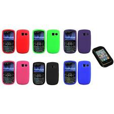 Color Silicone Rubber Gel Case Cover+Sticky Pad for Pantech Link II 2 P5000