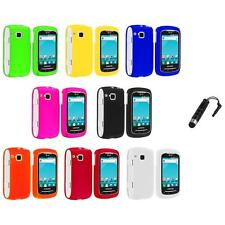 Color Hard Snap-On Skin Case Cover+Stylus Plug for Samsung Doubletime I857 Phone