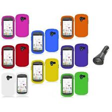 For Samsung Galaxy Exhibit T599 Color Hard Rubberized Case Cover+Car Charger
