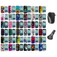 Design Hard Snap-On Case Cover Accessory+2X Chargers for Samsung Galaxy S III S3