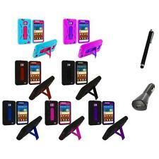 Hybrid Case Cover Stand+Charger+Pen for Samsung Attain Galaxy S2 II i9100
