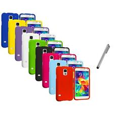 For Samsung Galaxy S5 Hard Snap-On Rubberized Matte Cover Case Stylus Pen