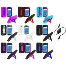 Hybrid Case Cover Stand+Aux Cable for Samsung T-Mobile Galaxy S2 S II Hercules