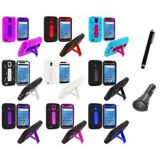 Hybrid Case Cover Stand+Charger+Pen for Samsung T-Mobile Galaxy S2 S II Hercules