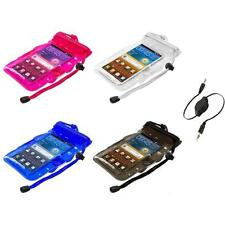 Waterproof Bag Case+Aux Cable For HTC One M7 XL S V Inspire 4G EVO 4G LTE DNA