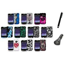 Design Hard Snap-On Rubberized Case Cover+Charger+Pen for ZTE Avid 4G N9120
