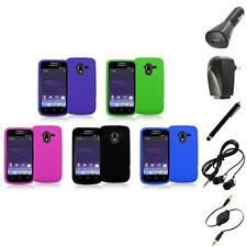 Color Silicone Rubber Gel Soft Skin Case Cover+Accessories for ZTE Avid 4G N9120
