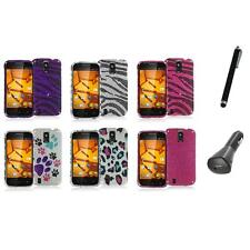 For ZTE Force N9100 Bling Rhinestone Design Hard Case Cover+Charger+Pen