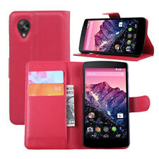New PU Leather Slim Card Case Wallet Stand Flip Cover For LG Google Nexus 5