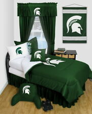 Michigan State Spartans Comforter Sham Pillowcase Twin Full Queen Size LR
