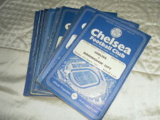 CHELSEA HOME PROGRAMMES FROM 1957/8  INC FRIENDLYS - CHOOSE FROM LIST