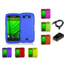 Color Hard Rubberized Case Charger for Blackberry Torch 9850 9860